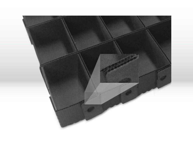Behälter aus Hohlkammerplatten als Mehrwegtransportverpackung der Tillmann Verpackungen Schmalkalden GmbH