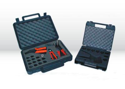 Maßgefertigte Produktverpackung: Werkzeugkoffer aus Kunststoff mit PE-Schaumeinlage für Einzelteile von Tillmann Verpackungen Schmalkalden GmbH