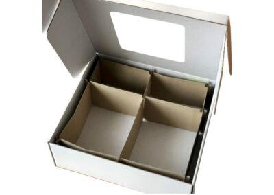 Verkaufs-/Versandverpackung mit Sichtfenster