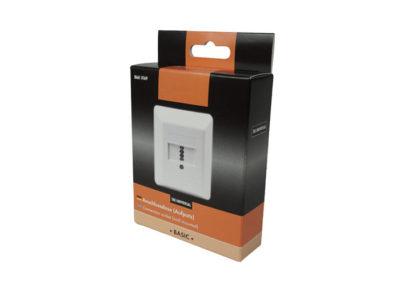 Verkaufsverpackung für Anschlussdosen mit Euroloch