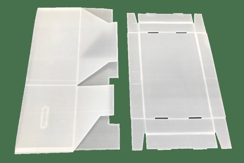 Eine Kartonage aus Kunststoff von der Tillmann Verpackungen Schmalkalden GmbH